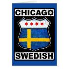 Schwedischer Amerikaner Chicagos Karte
