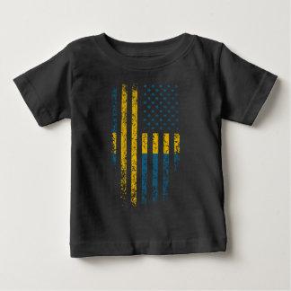 Schwedischer Flagge-Schmutz Baby T-shirt