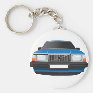 Schwedisches klassisches Auto von den achtziger Schlüsselanhänger