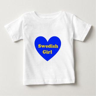 Schwedisches Mädchen Baby T-shirt