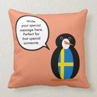 Schwedisches sprechenMr.Penguin Kissen