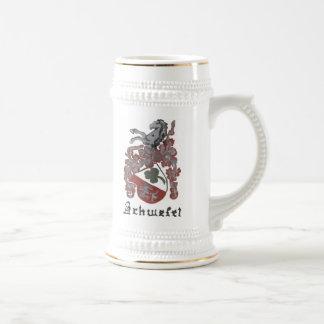 Schwefel Wappen Stein Bierglas
