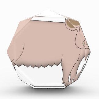 Schwein Acryl Auszeichnung