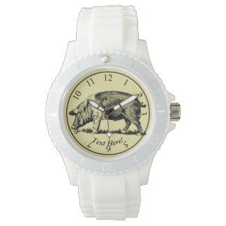 Schwein Armbanduhr
