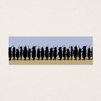 Schwein-Armee-Telefonkarte Mini Visitenkarte
