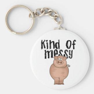 Schwein-Art der unordentlichen T-Shirts und der Schlüsselanhänger