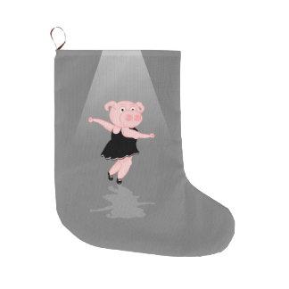 Schwein-Ballerina Großer Weihnachtsstrumpf