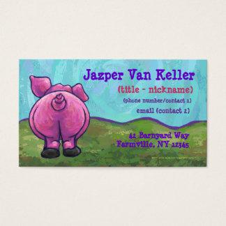 Schwein-Briefpapier Visitenkarte