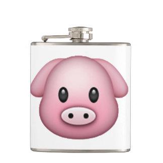 Schwein - Emoji Flachmann