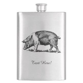 Schwein Flachmann