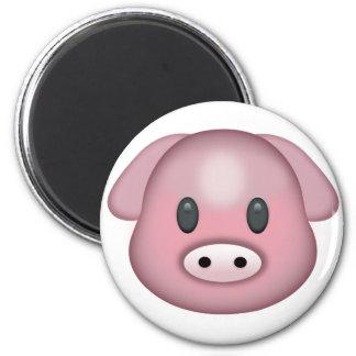 Schwein-Gesicht Emoji Runder Magnet 5,7 Cm