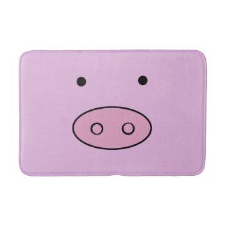 Schwein-Gesicht, Schwein-Nase, niedliches kleines Badematten