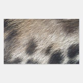 Schwein-Haut-Haar Rechteckiger Aufkleber