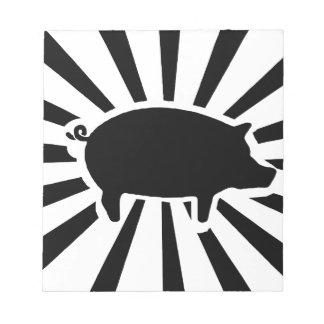 SCHWEIN ICH - Strahlen des Schweins Notizblock