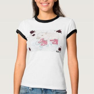 Schwein in den Stiefeln T-Shirt