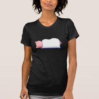Schwein in einer blauen Decke T-Shirt