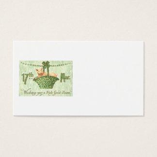 Schwein-Kleeblatt-vierblättriges Kleeblatt Visitenkarte
