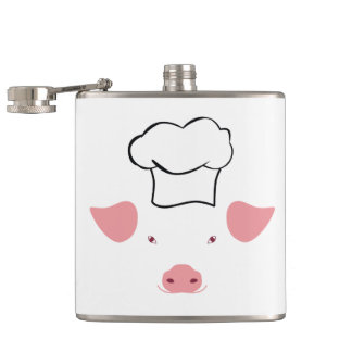 Schwein-Koch Flachmann