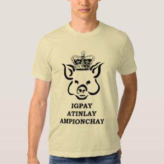Schwein-Latein-Meister Hemden