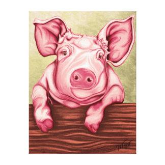 Schwein Leinwanddruck