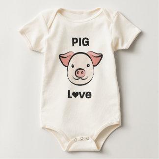 Schwein-Liebe Baby Strampler