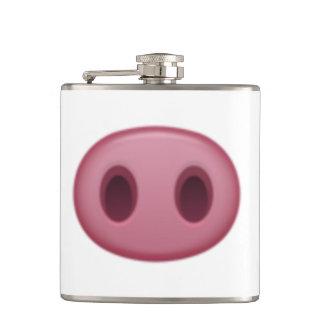 Schwein-Nase - Emoji Flachmann