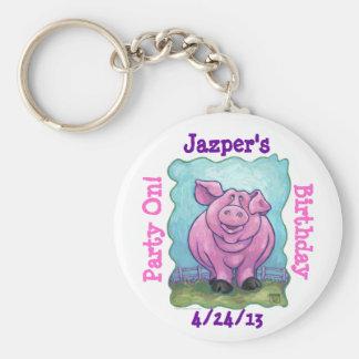 Schwein-Party-Mitte Schlüsselanhänger