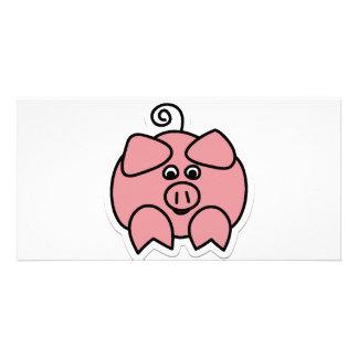 Schwein Photokarte