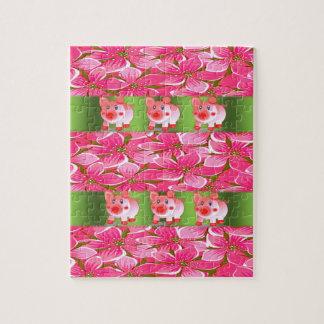 Schwein-Puzzle Puzzle