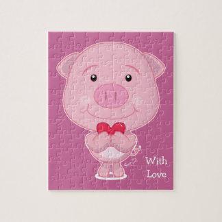 Schwein-Puzzlespiel Puzzle