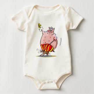 Schwein-Rodeo Baby Strampler