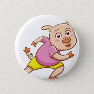 Schwein Runder Button 5,1 Cm
