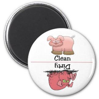 Schwein-sauberer schmutziger Spülmaschinen-Magnet Kühlschrankmagnete