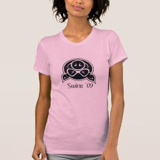 Schwein-schwarz-weißlogo, Schwein '09 T-Shirt