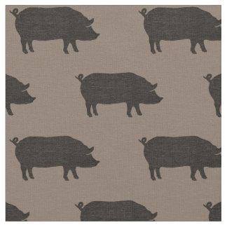 Schwein-Silhouette-Muster Stoff