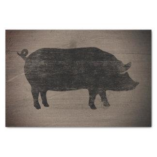 Schwein-Silhouette-rustikale Art Seidenpapier