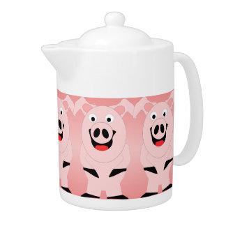 Schwein-Teekanne