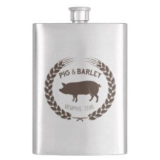 Schwein-u. Gersten-Flasche - vervollkommnen Sie Flachmann