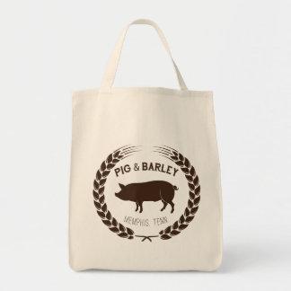 Schwein-u. Gersten-Lebensmittelgeschäft-Tasche Tragetasche