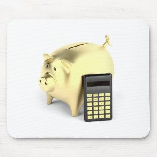 Schwein und Taschenrechner Mousepad