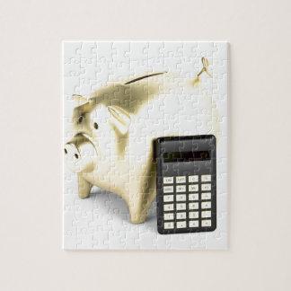 Schwein und Taschenrechner Puzzle