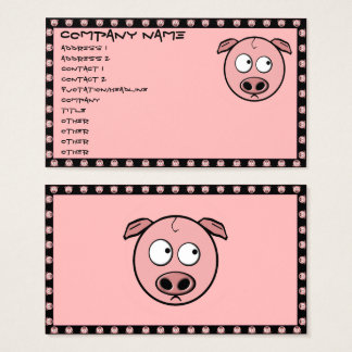Schwein-Visitenkarten Visitenkarte
