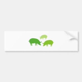 Schweine, die nach Nahrung (Grün, suchen) Autoaufkleber