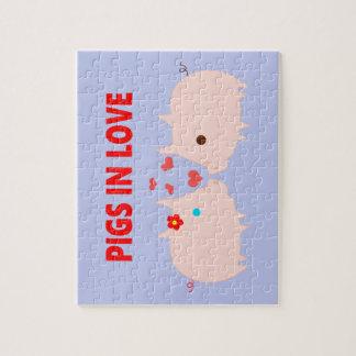 Schweine in der Liebe Puzzle