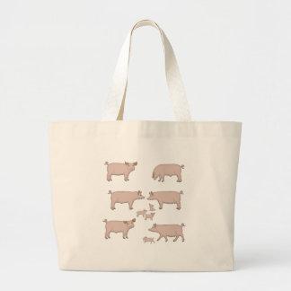 Schweine Jumbo Stoffbeutel