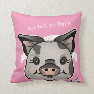 Schweine machen mich glücklich! kissen
