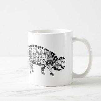 Schweinefleisch Typogram Kaffeetasse