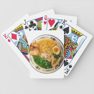Schweinefleischramen-Nudelsuppe Bicycle Spielkarten