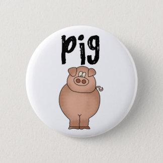 Schweinezuchtbetrieb-Tier Runder Button 5,7 Cm