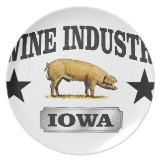 Schweinindustriebaby Teller